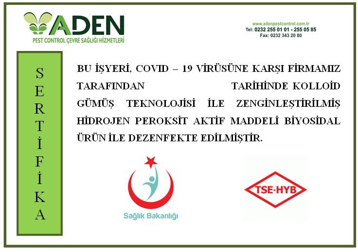 Covid-19 Dezenfektasyon Sertifikası